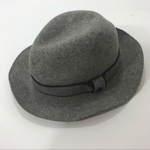 Rag and bone wool hat grey floppy fedora